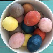 Ingredient, Food, Egg, Egg, Easter, Easter egg, Oval, Sweetness, Peach, Food additive,
