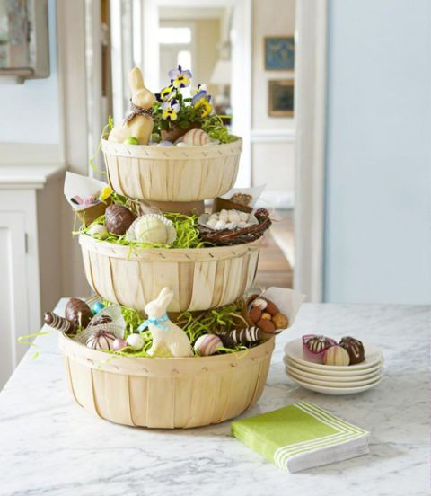 tiered easter baskets