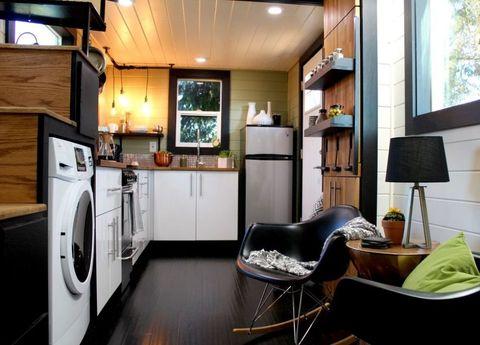 Wood, Room, Lighting, Interior design, Floor, Major appliance, Flooring, Home appliance, Home, Display device,