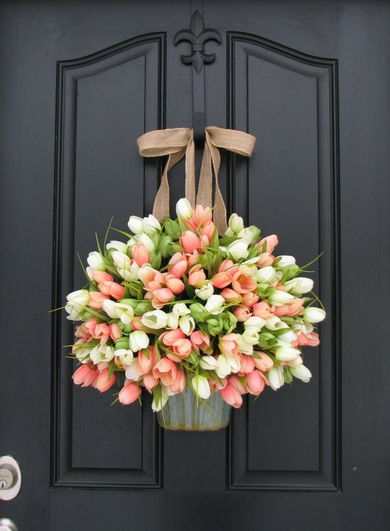 spring wreath for front door30 Spring Wreaths  Easter  Spring Door Decorations Ideas