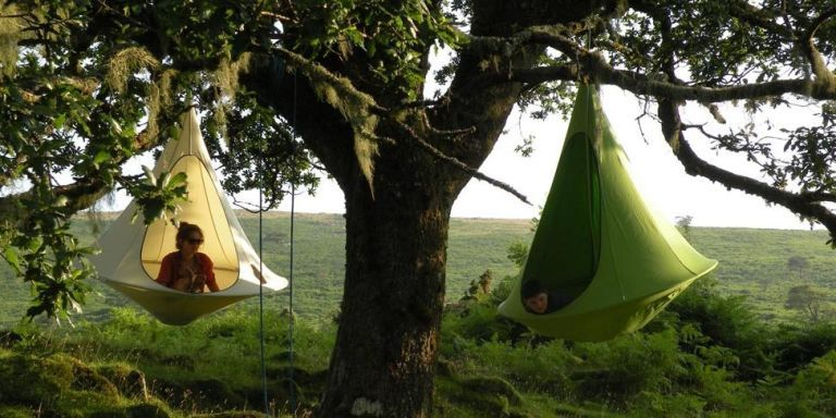 & Hanging Cacoon Tent - Tent Design That Hangs From a Tree