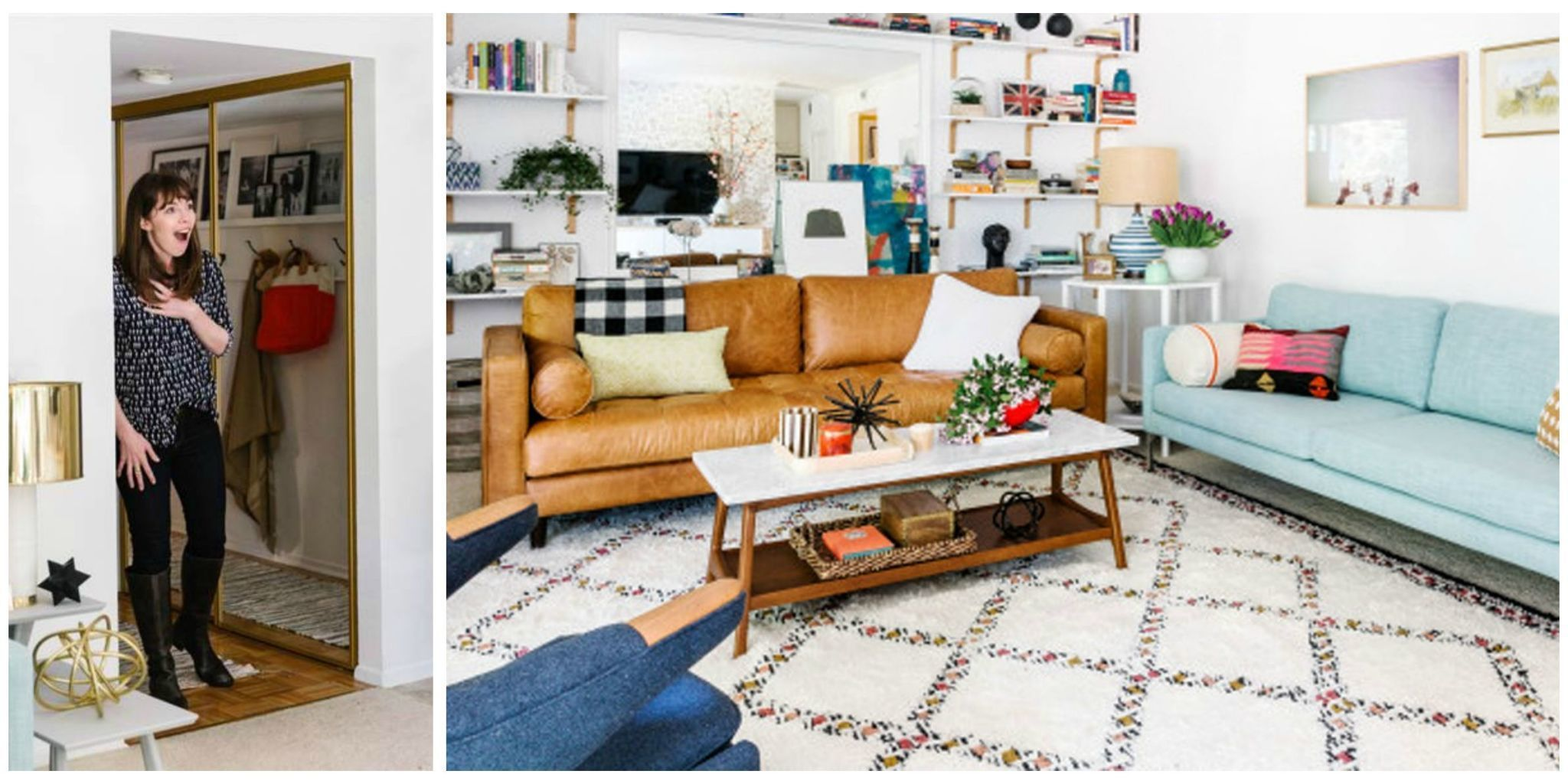This Young Widow Got a Cheerful Home Makeover, Courtesy of Her Twin Sister