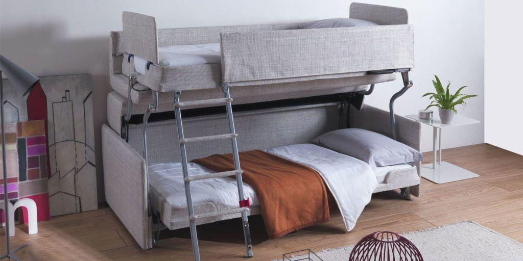 This Clever Bunk Bed Is Also a Sofa