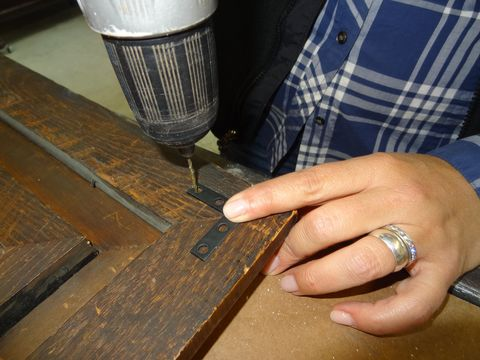 """<p>If furniture starts to separate at the seams where two pieces of wood come together, a simple solution is to add flat corner braces, which are available at hardware and home centers for less than $1 each. This eliminates having to drive screws through the seam in the hopes of pulling the gap closed. Add the brace in an inconspicuous location, like the back of the piece. """"Place the bracket over the joint where the wood is the thickest so you get the most bite with your screws,"""" Dvorak advises. """"Use clamps to pull the seam tight, then drill pilot holes through the bracket, drive in your screws, and you're done.""""</p>"""