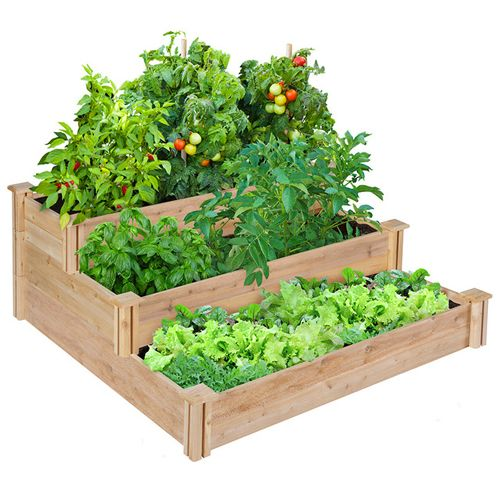 Greenes Fence Company 3-Tiered Cedar Raised Garden Bed