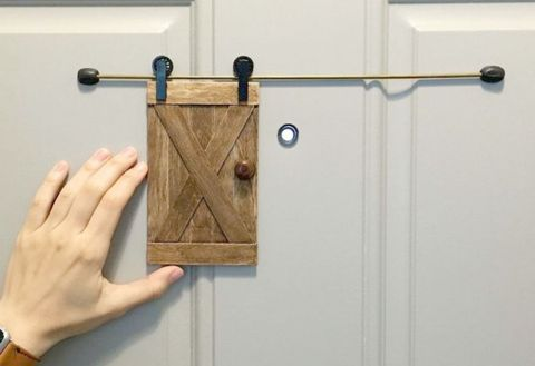 How to Make a Tiny Sliding Barn Door for Your Peephole