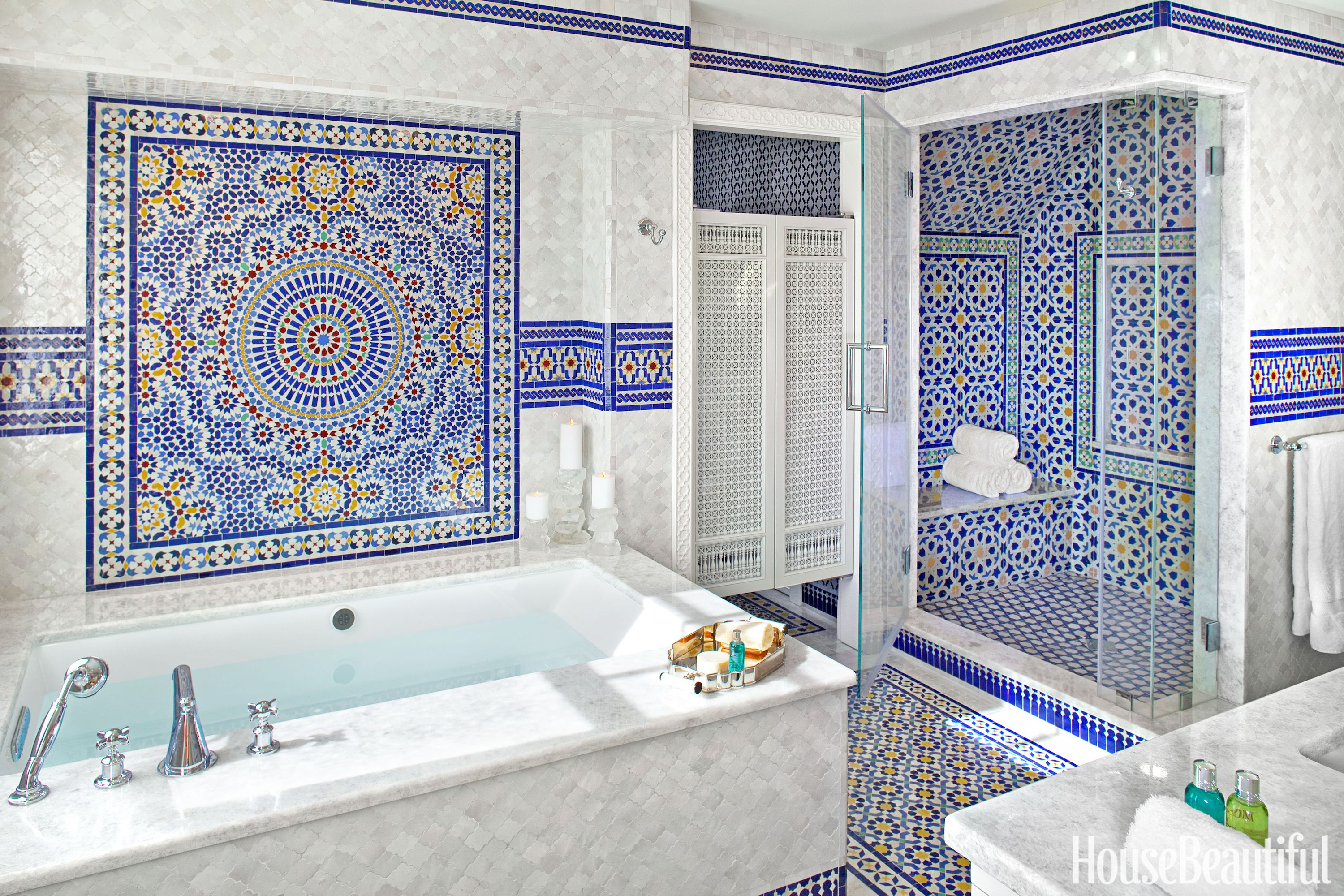 design tiled room ideas walker colorful bathroom tile bathrooms decorate sarah associates