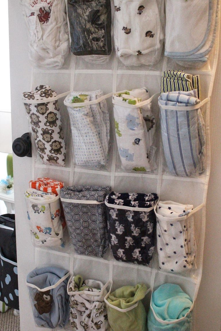 New uses for a hanging door shoe organizer home storage for Baby stuff organizer