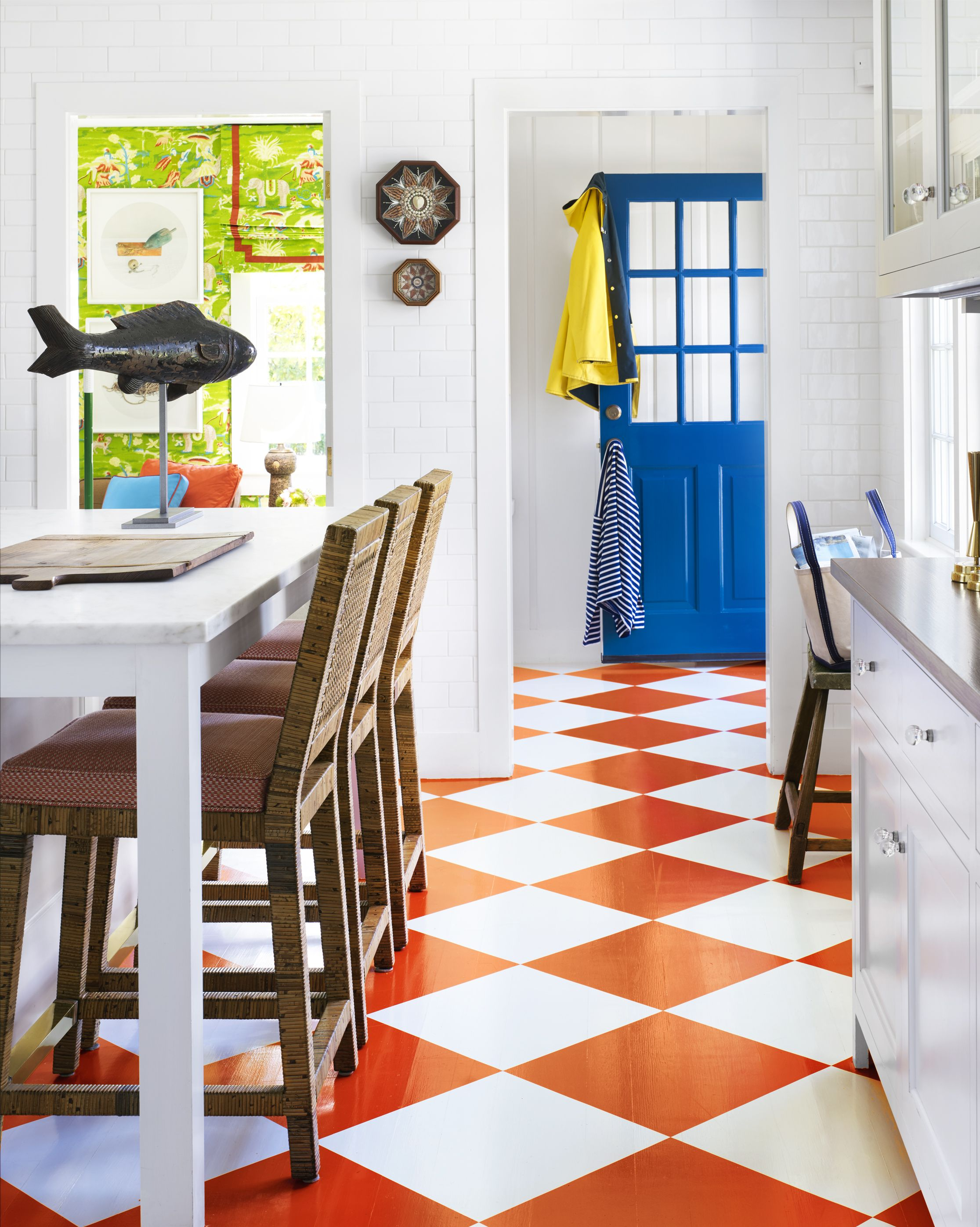 Whether you're reviving planks with a fresh coat or adding a herringbone pattern.