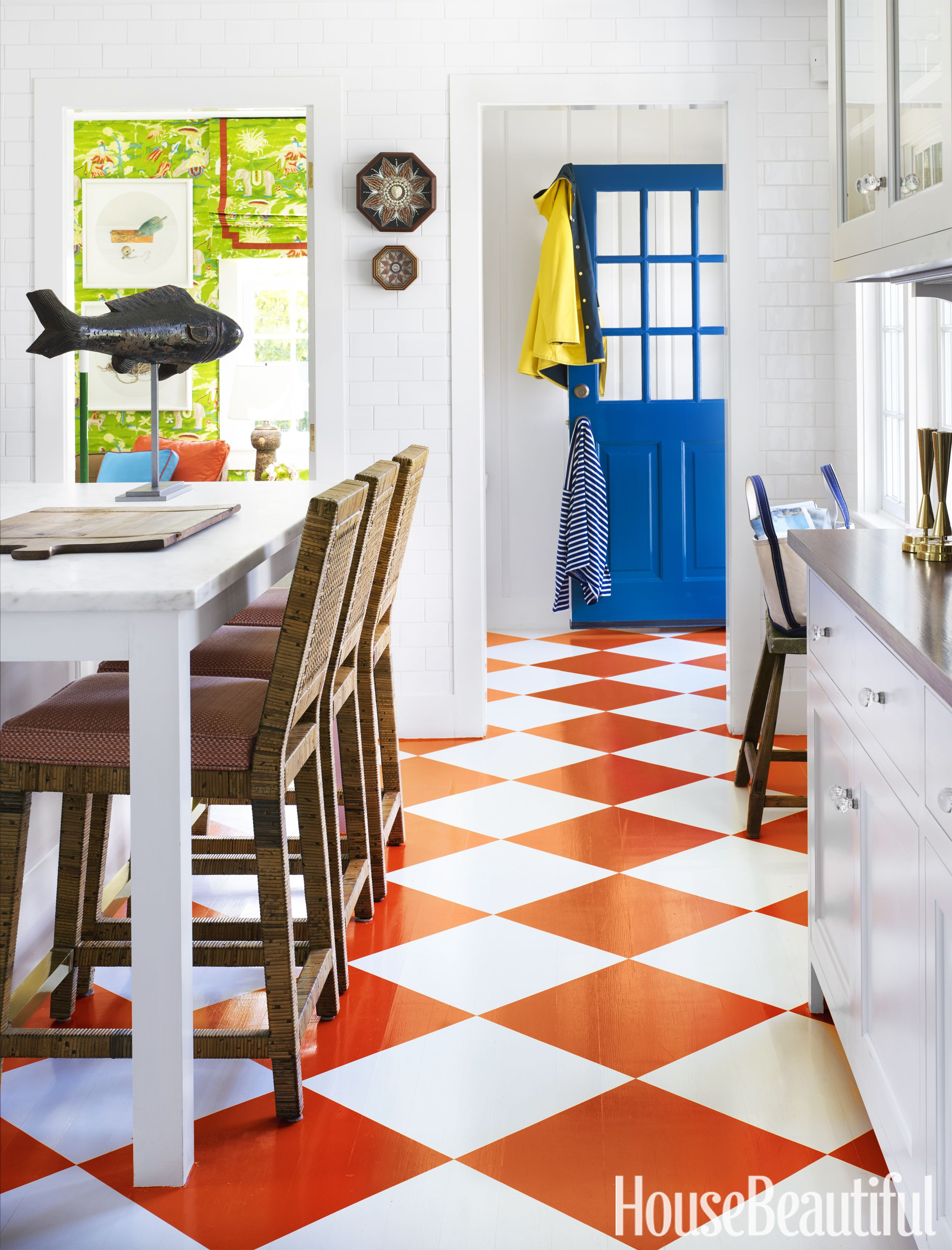 Whether Youu0027re Reviving Planks With A Fresh Coat Or Adding A Herringbone  Pattern. House Beautiful