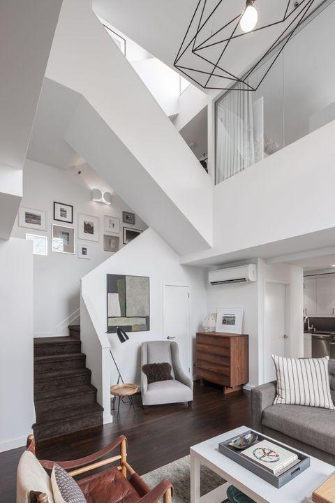 Wood, Room, Interior design, Floor, Living room, Hardwood, Furniture, Home, White, Wall,