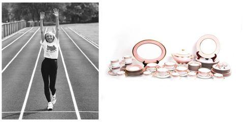 Dishware, Serveware, Bangle, Peach, Running, Monochrome, Black-and-white, Circle, Exercise, Long-distance running,