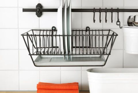 ikea backsplash dish dryer