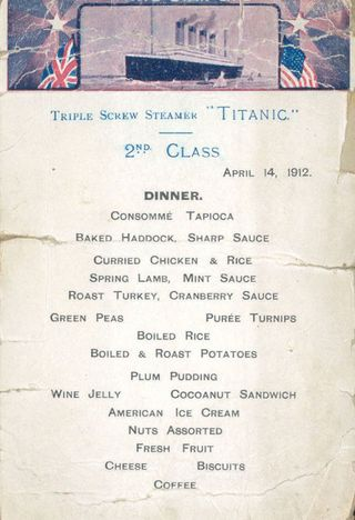 What Passengers Ate On The Titanic Real Titanic Menus