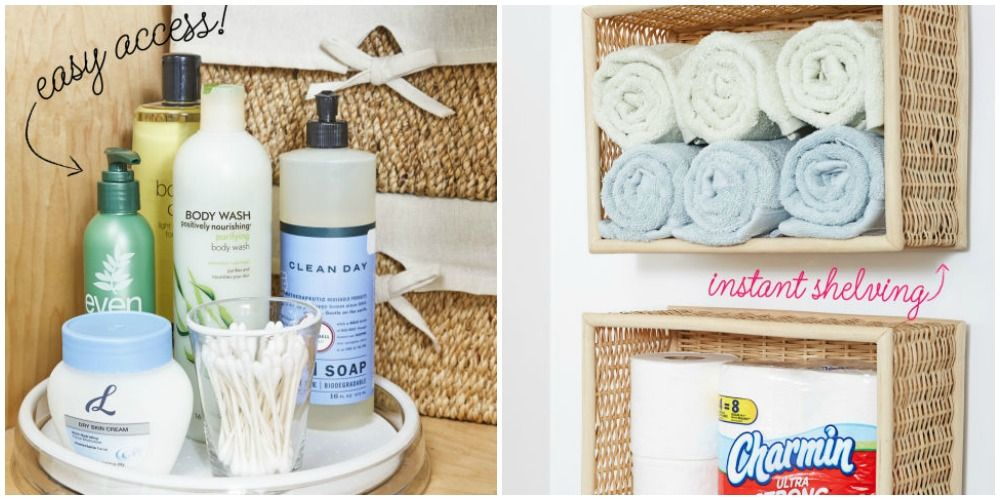 Dollar Store Bathroom Organization Ideas   DIY Dollar Store Ideas To  Organize Your Bathroom