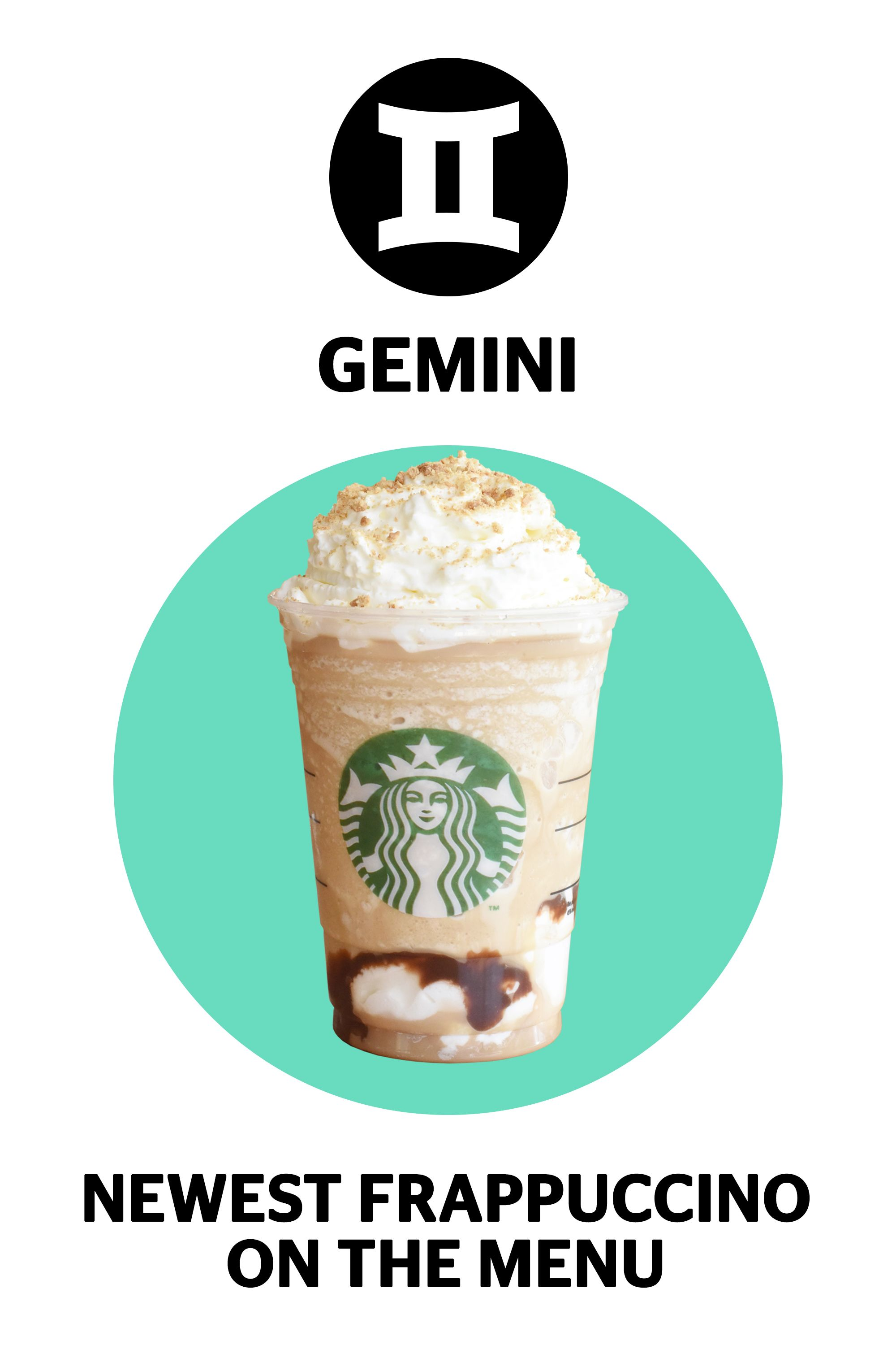 newest frappuccino, zodiac Starbucks drinks