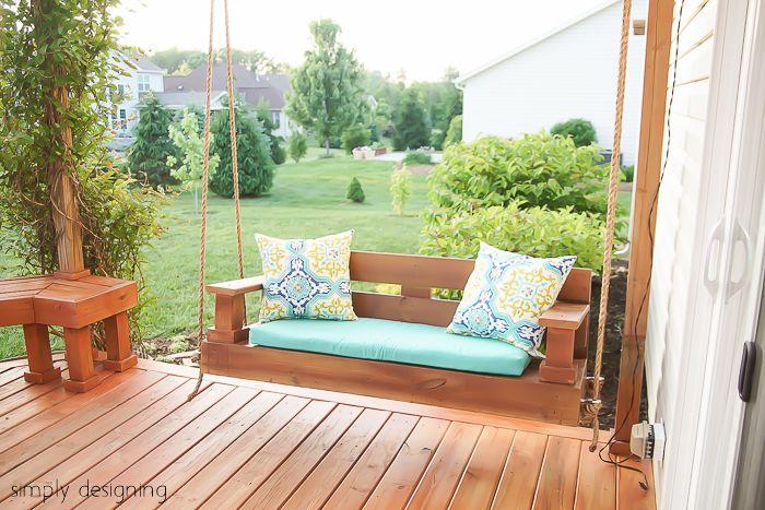Outdoor swing diys how to make an patio swing solutioingenieria Gallery