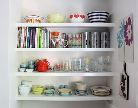 Serveware, Dishware, Shelf, Shelving, Collection, Porcelain, Ceramic, Pottery, earthenware, Paint,