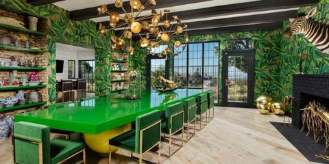 green jungle dining room