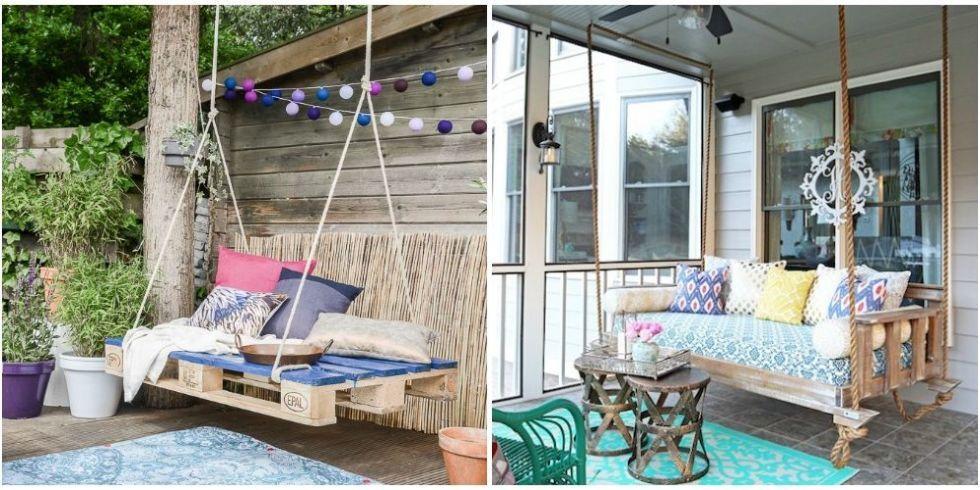 House Beautiful & Outdoor Swing DIYs - How to Make an Patio Swing
