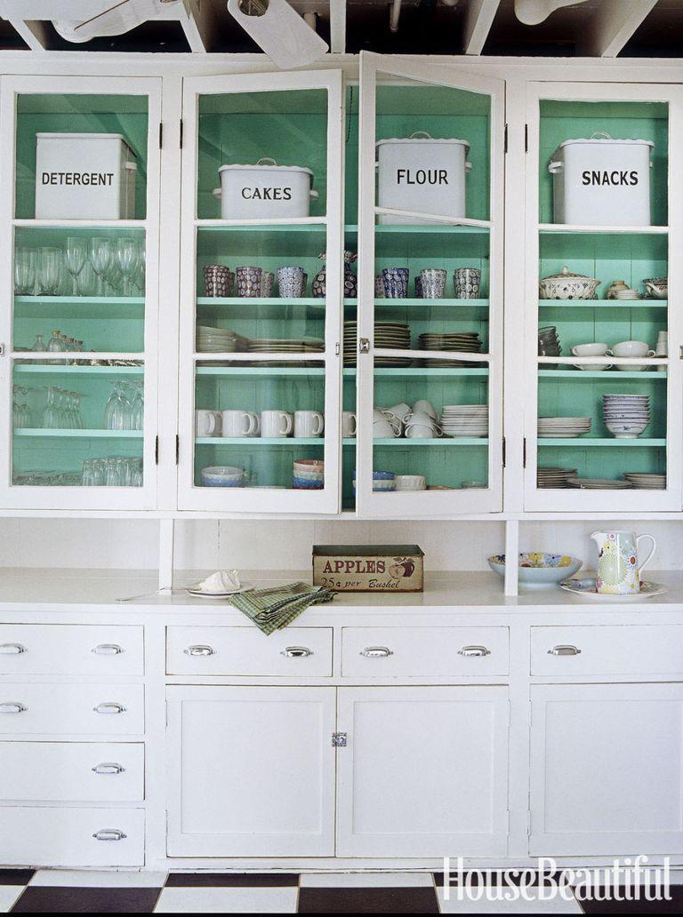 turquoise kitchen