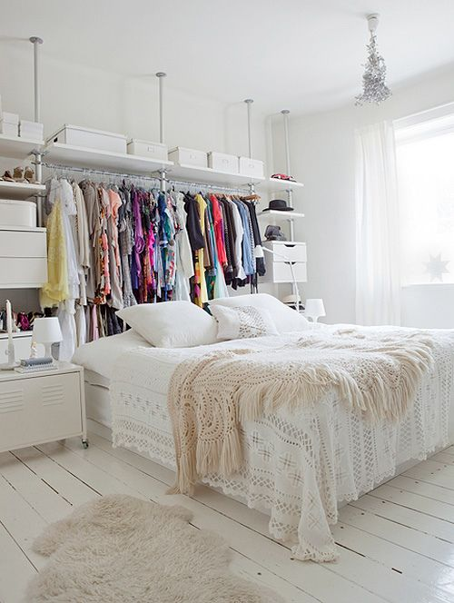 Genial 14 Small Bedroom Storage Ideas   How To Organize A Bedroom With No Closet  Space
