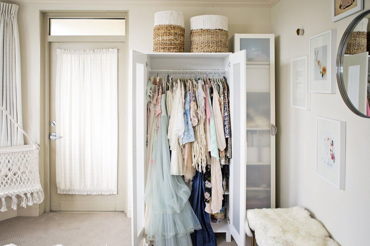 Amazing Storage Ideas For A Bedroom Without A Closet   Genius Clothing Organization  Ideas