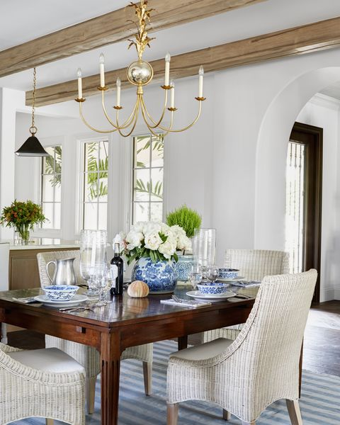 Image Luke White Elegant Dining Room