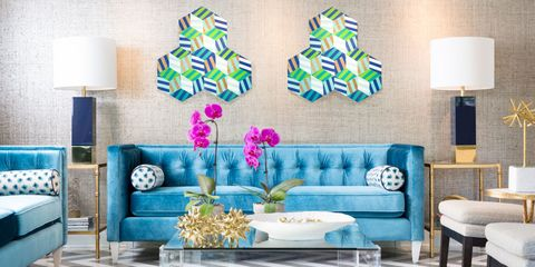 Blue, Room, Interior design, Green, Living room, Wall, Furniture, Turquoise, Couch, Teal,