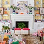 Room, Interior design, Green, Living room, Furniture, Home, Interior design, Wall, House, Fireplace,
