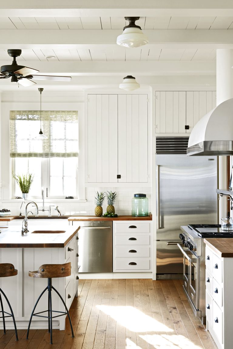 17 White Kitchen Cabinet Ideas - Paint Colors and Hardware ...