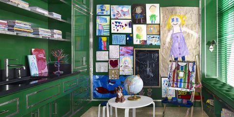 Miles Redd Green Playroom
