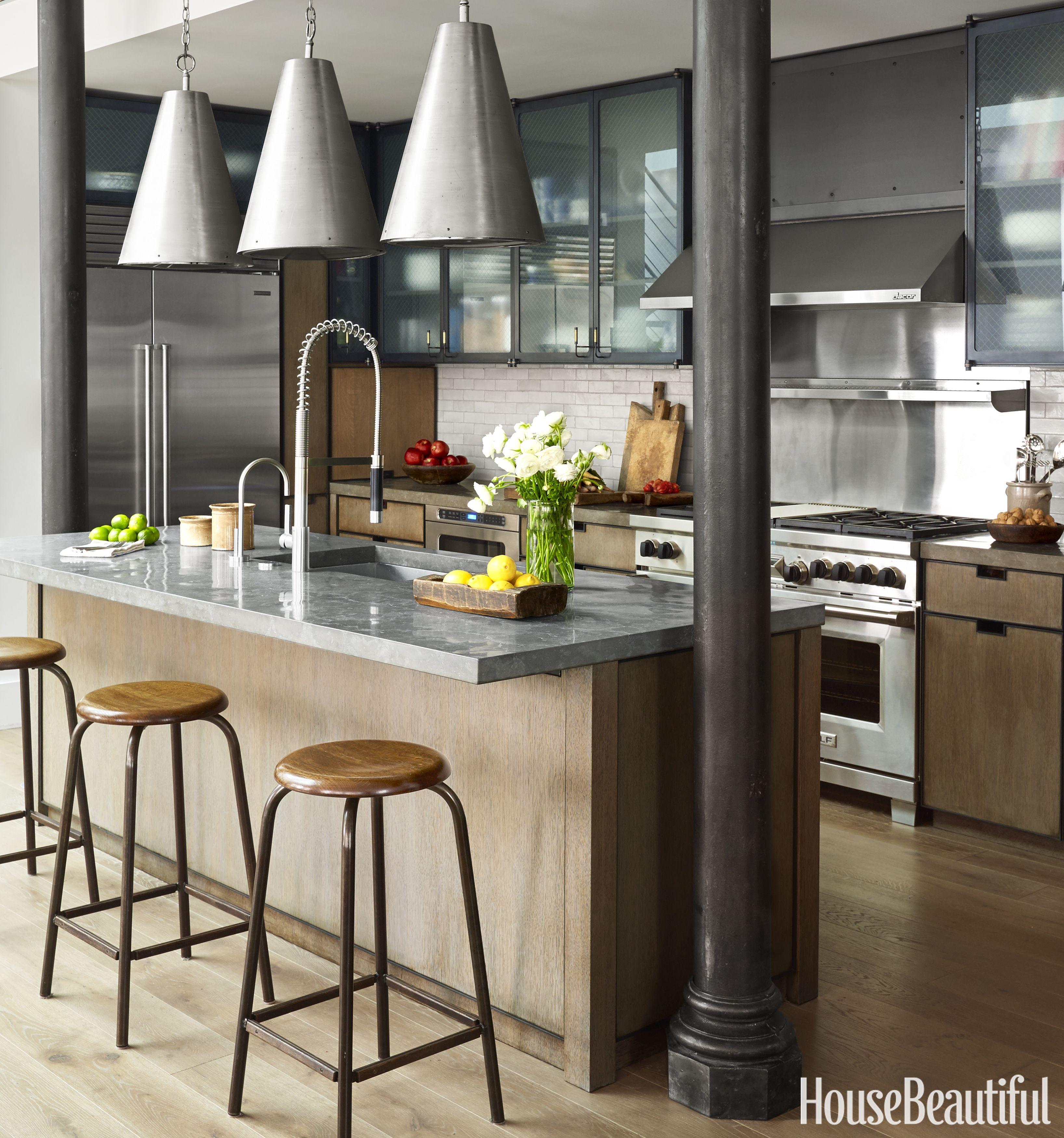 House Beautiful & Industrial Kitchen Design Ideas - Robert Stilin Interior Design
