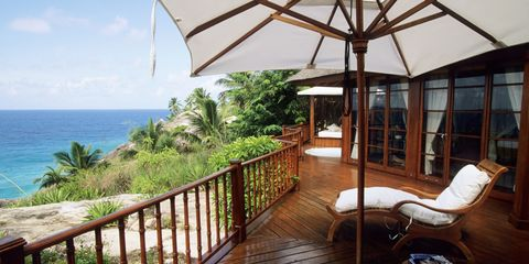 An ocean view from a villa at Fregate Island Private.