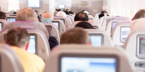 Aircraft cabin, Transport, Comfort, Air travel, Passenger, Airline, White, Service, Airliner, Public transport,