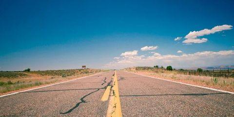 Road, Daytime, Road surface, Infrastructure, Asphalt, Plain, Horizon, Landscape, Natural landscape, Land lot,