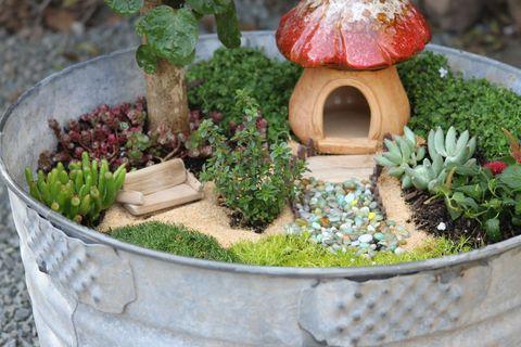 fairy garden wash tub