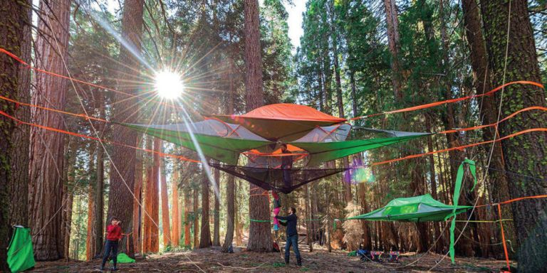 This Tent (Literally) Takes Camping to New Heights