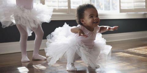 Performing arts, Floor, Flooring, Baby & toddler clothing, Dress, Dance, Toddler, Ballet tutu, Dancer, Costume,