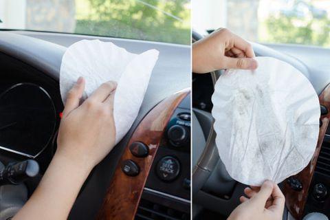 dusting tricks car