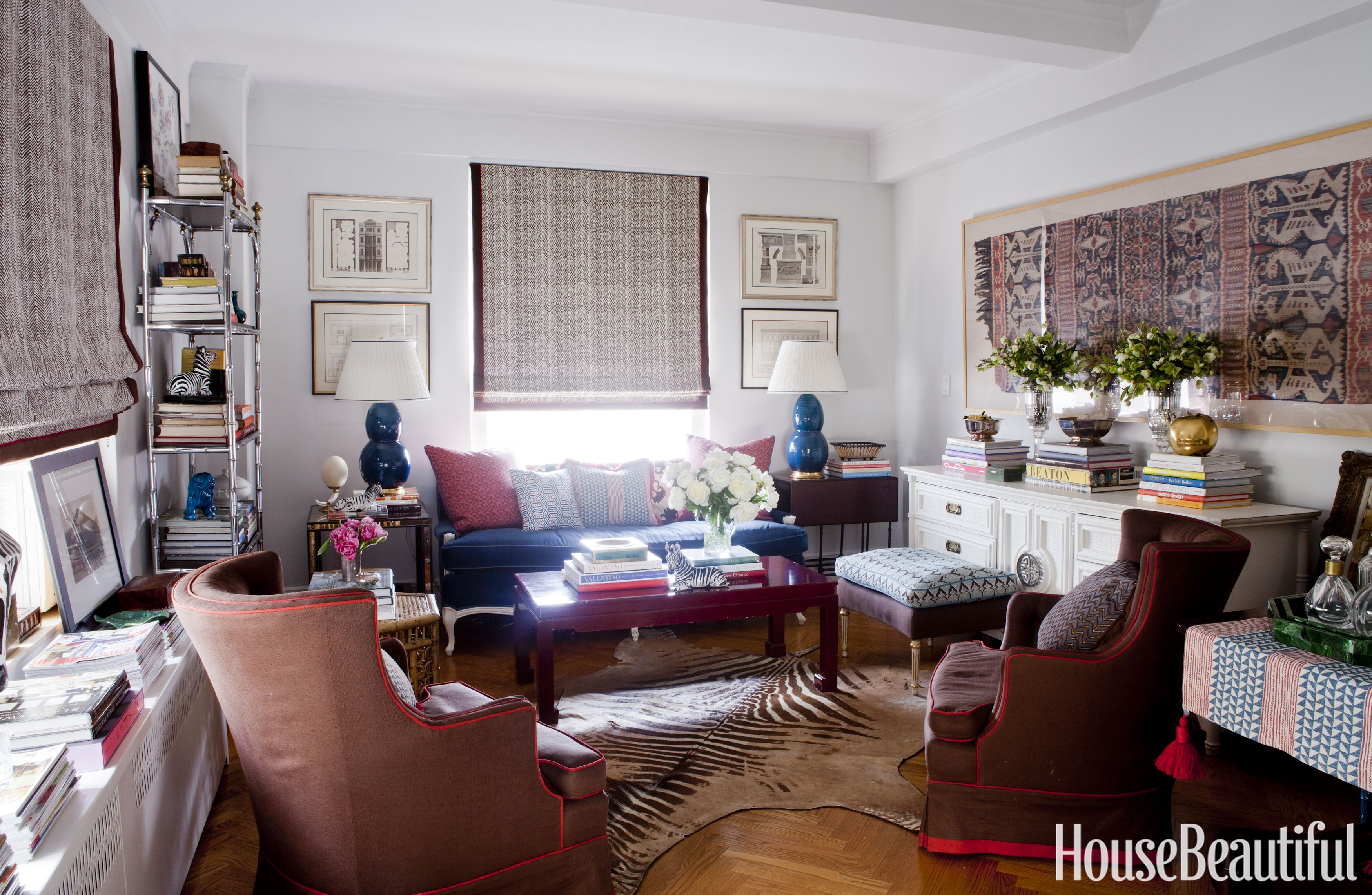 Lindsey Coral Harpers New York Apartment Colorful Decorating Ideas
