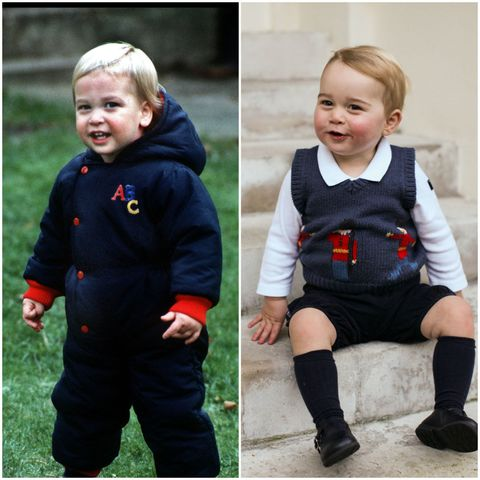 prince william and prince george as babies
