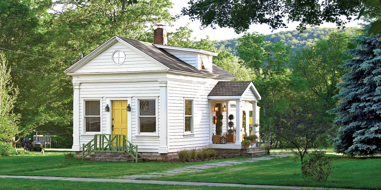 schoolhouse cottage exterior