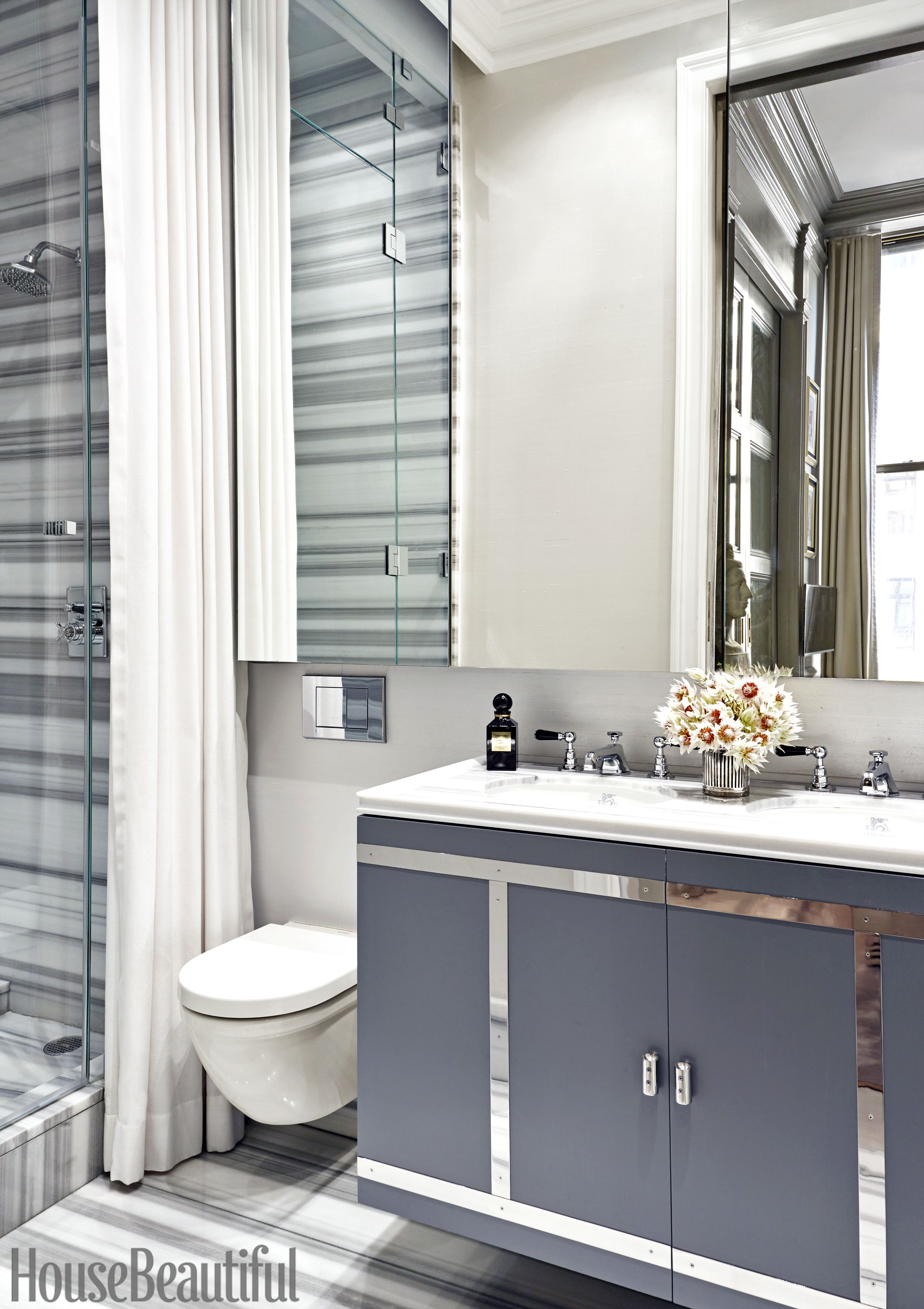 amir khamneipur gray bathroom & 25 Small Bathroom Design Ideas - Small Bathroom Solutions