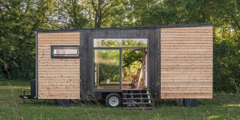 This Tiny Home's Pop-Out Porch Is Seriously Genius