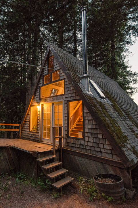 most repinned airbnbs: a-frame cabin, cazadero, california