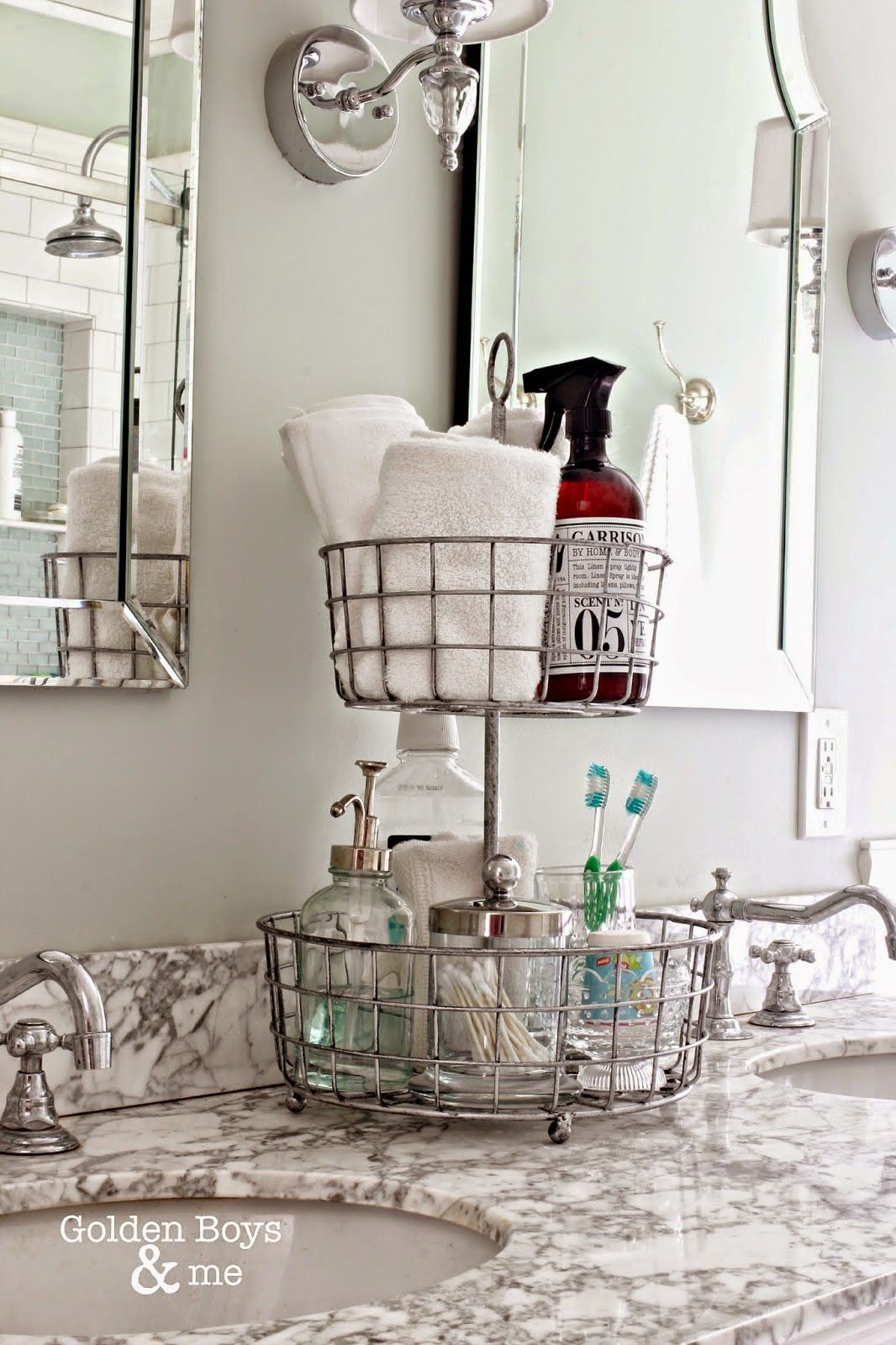 17 Bathroom Storage and Organization Ideas - How to Organize Your Bathroom Counter and Vanity