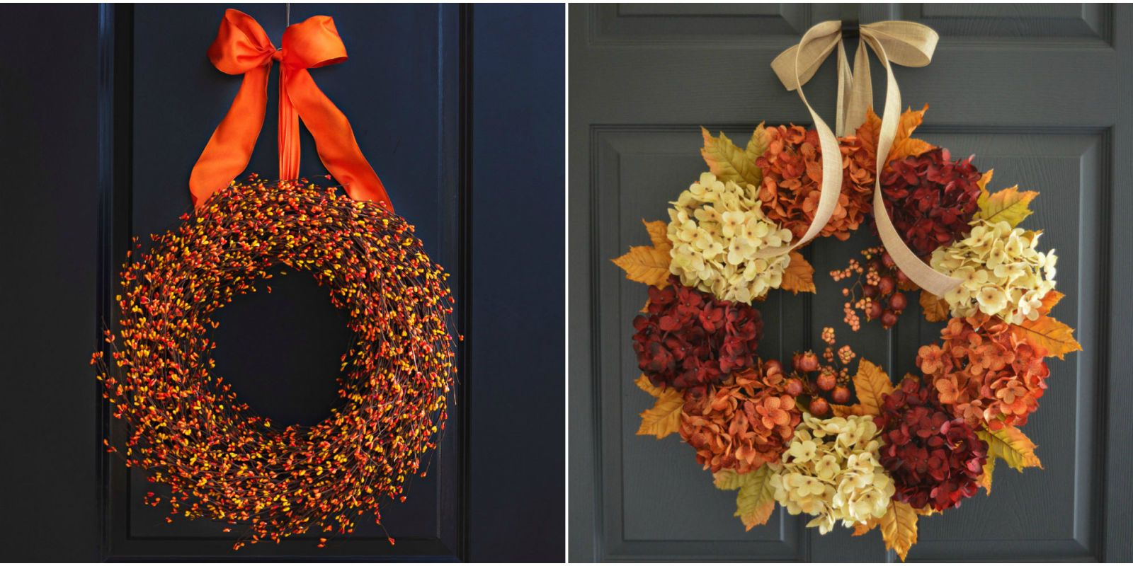 Whether You Buy Or DIY, These Festive Beauties Will Give Your Home Serious  Curb Appeal. (And Donu0027t Miss Out On Our Halloween Wreath Ideas!)