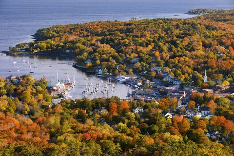 new england small towns: camden, maine