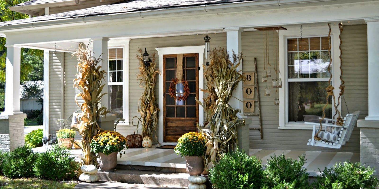 19 fall porch decor ideas best autumn front porch decorations rh housebeautiful com cottage porch ideas blue country cottage porch ideas